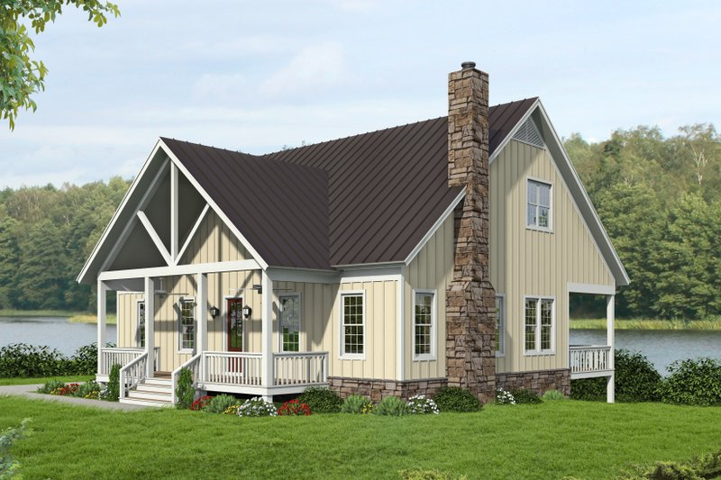 Dream House Plan - Country Exterior - Front Elevation Plan #932-351