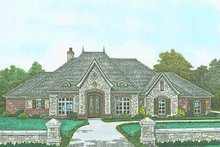 Dream House Plan - European Exterior - Front Elevation Plan #310-1298