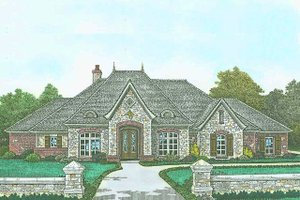 European Exterior - Front Elevation Plan #310-1298