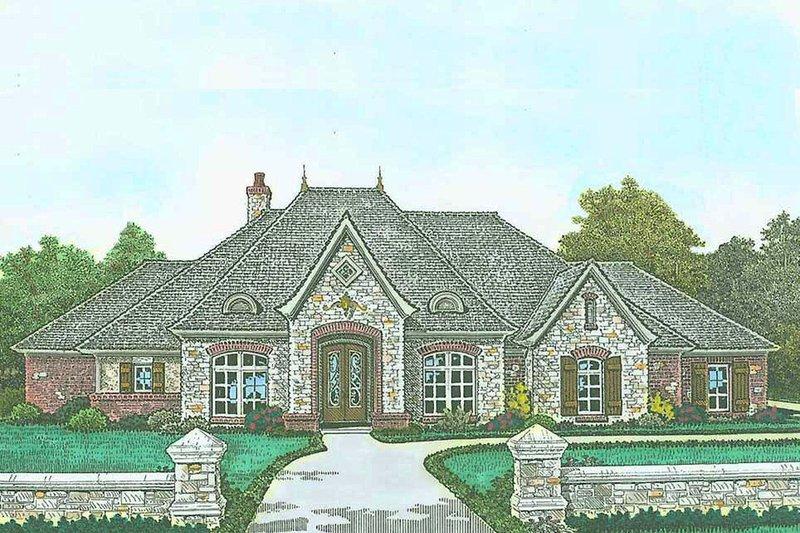 Architectural House Design - European Exterior - Front Elevation Plan #310-1298