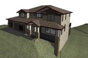 Modern Style House Plan - 4 Beds 2.5 Baths 3109 Sq/Ft Plan #1066-129 Exterior - Other Elevation