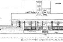 House Blueprint - Farmhouse Exterior - Rear Elevation Plan #72-467