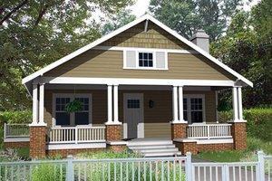 Craftsman Exterior - Front Elevation Plan #461-4