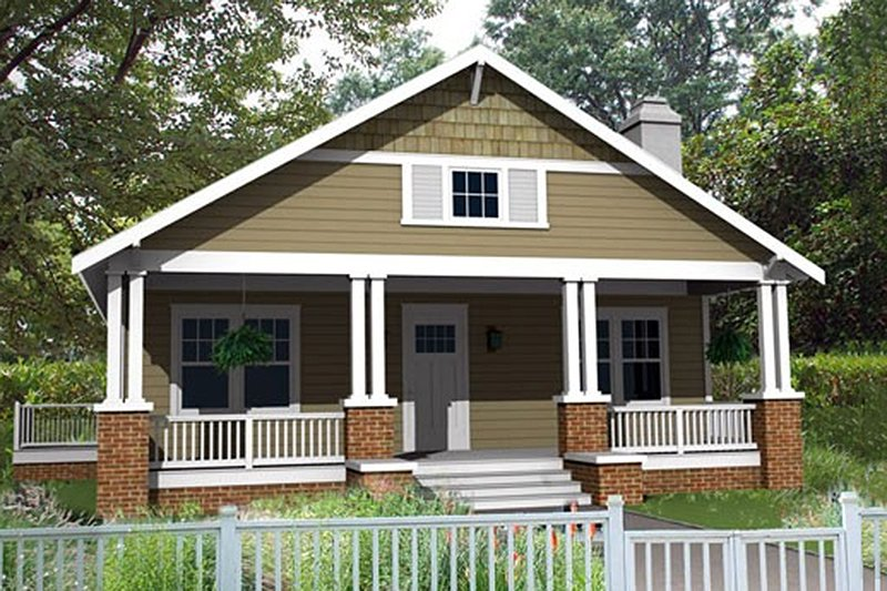 Architectural House Design - Craftsman Exterior - Front Elevation Plan #461-4
