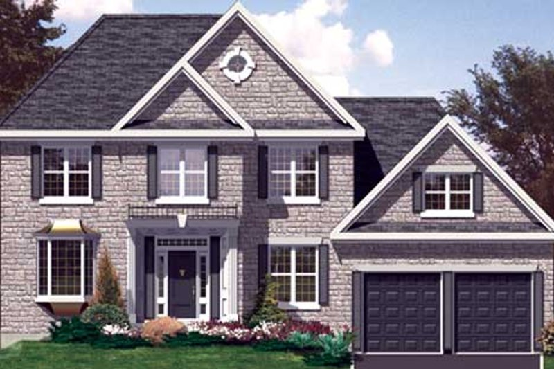 Colonial Style House Plan - 4 Beds 2.5 Baths 2505 Sq/Ft Plan #138-280 Exterior - Front Elevation