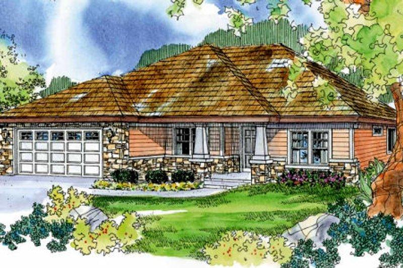 Craftsman Exterior - Front Elevation Plan #124-706