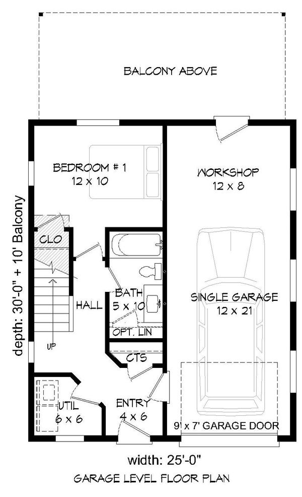 Contemporary Floor Plan - Main Floor Plan Plan #932-181