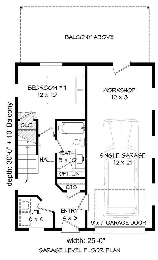 Home Plan - Contemporary Floor Plan - Main Floor Plan #932-181