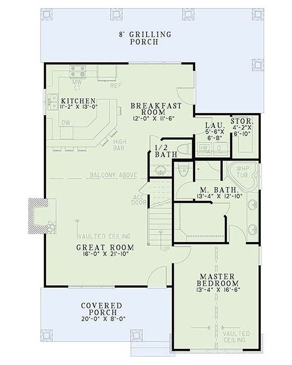 Bungalow Floor Plan - Main Floor Plan Plan #17-2481