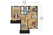 Traditional Style House Plan - 3 Beds 1 Baths 1599 Sq/Ft Plan #25-4663 Floor Plan - Upper Floor Plan