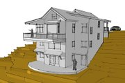 Modern Style House Plan - 4 Beds 4 Baths 2869 Sq/Ft Plan #902-3 Exterior - Front Elevation
