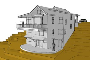 Modern Exterior - Front Elevation Plan #902-3