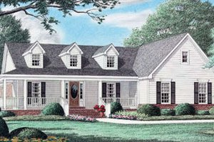 Country Exterior - Front Elevation Plan #34-127