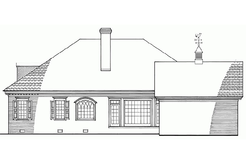 Southern Exterior - Front Elevation Plan #137-179 - Houseplans.com