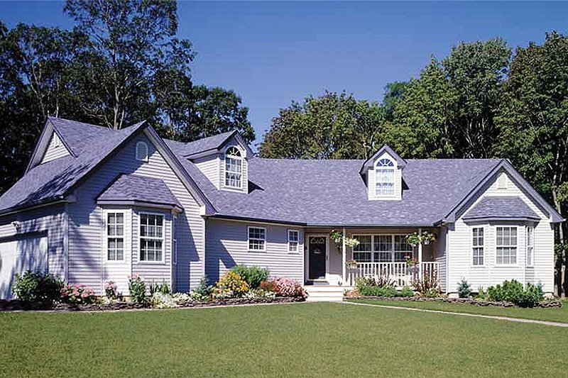 Country Exterior - Front Elevation Plan #314-203 - Houseplans.com