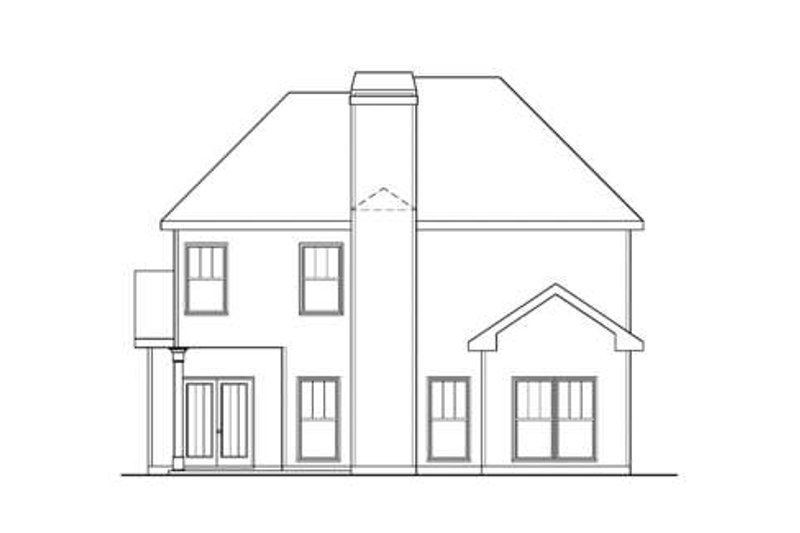 Traditional Exterior - Rear Elevation Plan #419-198 - Houseplans.com