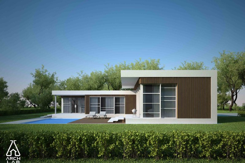 Dream House Plan - Modern Exterior - Other Elevation Plan #552-2