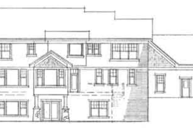 Farmhouse Exterior - Rear Elevation Plan #51-204 - Houseplans.com