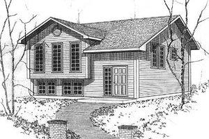 Modern Exterior - Front Elevation Plan #409-115