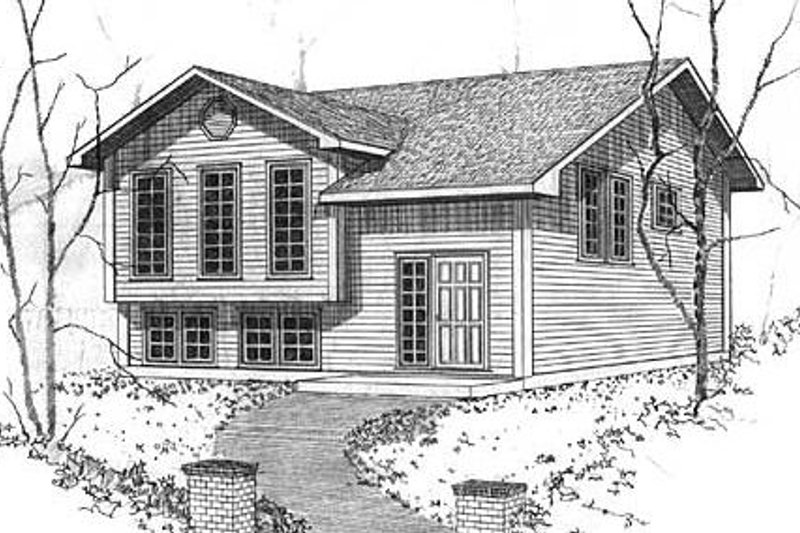 Modern Style House Plan - 3 Beds 1 Baths 1082 Sq/Ft Plan #409-115 Exterior - Front Elevation
