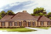 Traditional Style House Plan - 3 Beds 2 Baths 2133 Sq/Ft Plan #10-148 Exterior - Front Elevation