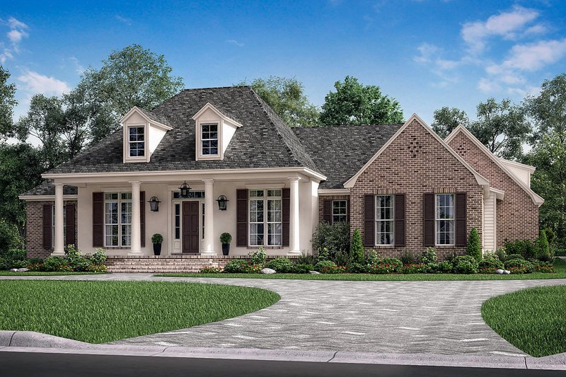 Country Exterior - Front Elevation Plan #430-171