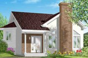 Cottage Style House Plan - 1 Beds 1 Baths 925 Sq/Ft Plan #25-1193 Exterior - Front Elevation