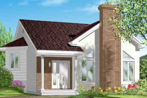 Cottage Exterior - Front Elevation Plan #25-1193