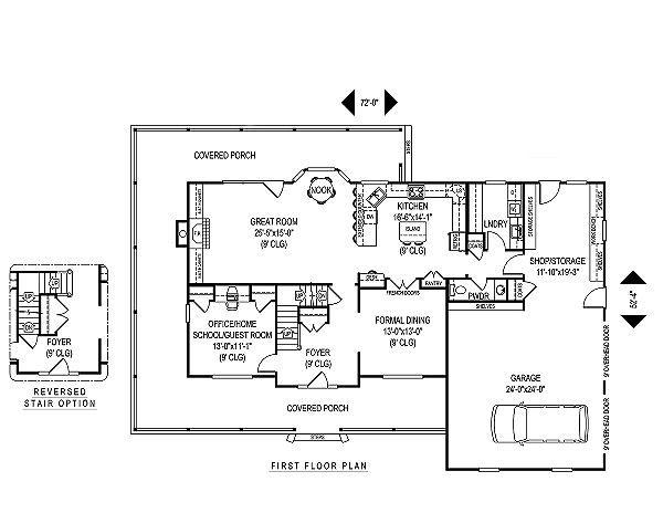 Home Plan - Country Floor Plan - Main Floor Plan #11-228