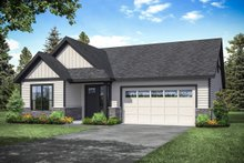 Dream House Plan - Traditional Exterior - Front Elevation Plan #124-1162