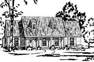 Architectural House Design - Country Exterior - Front Elevation Plan #36-145