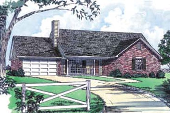 Traditional Exterior - Front Elevation Plan #16-113