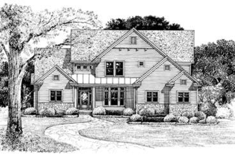 Architectural House Design - Country Exterior - Front Elevation Plan #20-818