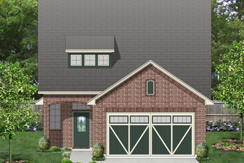Cottage Exterior - Front Elevation Plan #84-569 - Houseplans.com