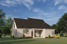 House Plan Design - European Exterior - Rear Elevation Plan #17-3066