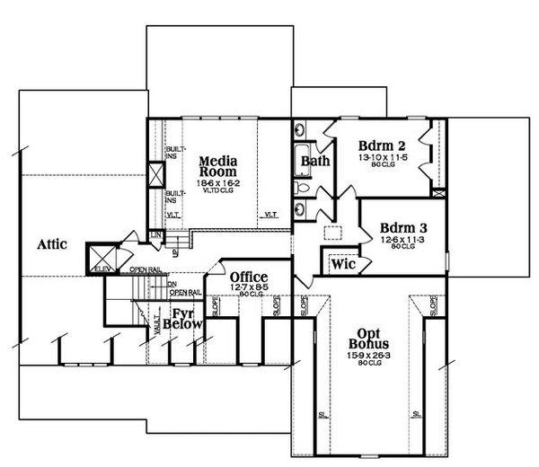 Country Floor Plan - Upper Floor Plan Plan #419-267