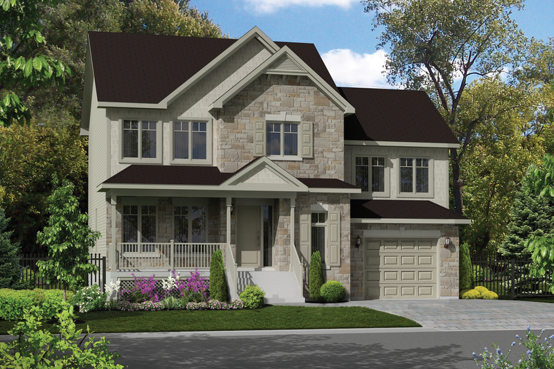 Traditional Style House Plan - 3 Beds 1 Baths 1688 Sq/Ft Plan #25-4577 Exterior - Front Elevation