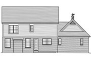 Traditional Style House Plan - 4 Beds 2.5 Baths 2559 Sq/Ft Plan #46-878 Exterior - Rear Elevation
