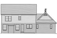 Architectural House Design - Traditional Exterior - Rear Elevation Plan #46-878