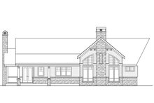 Country Exterior - Rear Elevation Plan #124-967