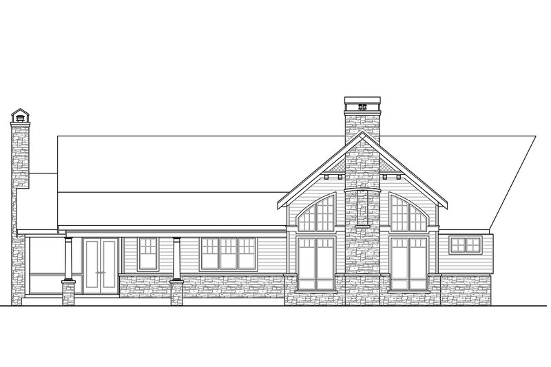 Country Exterior - Rear Elevation Plan #124-967 - Houseplans.com