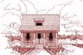 Cottage Style House Plan - 3 Beds 2 Baths 1056 Sq/Ft Plan #79-128 Exterior - Front Elevation