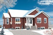 Ranch Style House Plan - 4 Beds 2.5 Baths 2133 Sq/Ft Plan #23-2614 Exterior - Front Elevation