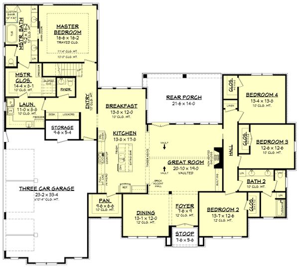 House Plan Design - Farmhouse Floor Plan - Main Floor Plan #430-202