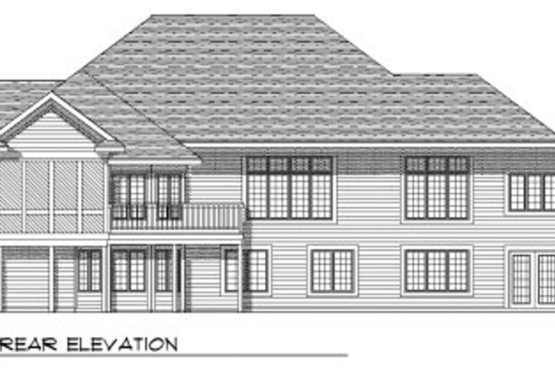 European Exterior - Rear Elevation Plan #70-764 - Houseplans.com