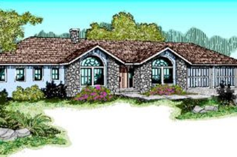 Traditional Exterior - Front Elevation Plan #60-224 - Houseplans.com