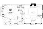 Colonial Style House Plan - 3 Beds 2.5 Baths 1897 Sq/Ft Plan #477-2 Floor Plan - Main Floor