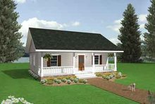 Architectural House Design - Cottage Exterior - Front Elevation Plan #44-114