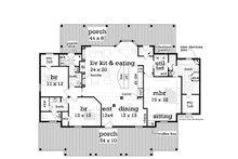 Southern Floor Plan - Main Floor Plan Plan #45-376