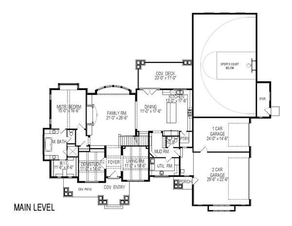 House Plan Design - Craftsman Floor Plan - Main Floor Plan #920-24